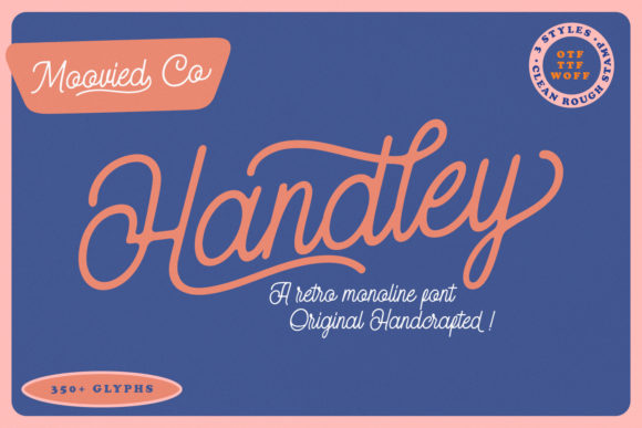 Print on Demand: Handley Script & Handwritten Font By Temp here