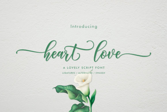 Print on Demand: Heart Love Script & Handwritten Font By Amarlettering