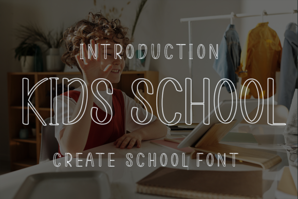 Print on Demand: Kids School Display Font By ONE DESIGN