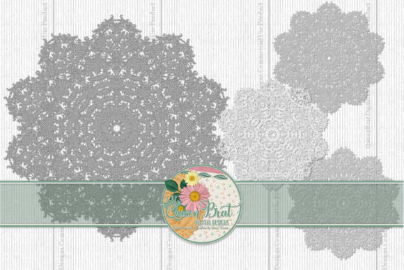Print on Demand: Lace Dolies Graphic Illustrations By QueenBrat Digital Designs