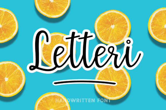 Print on Demand: Letteri Script & Handwritten Font By meiimi