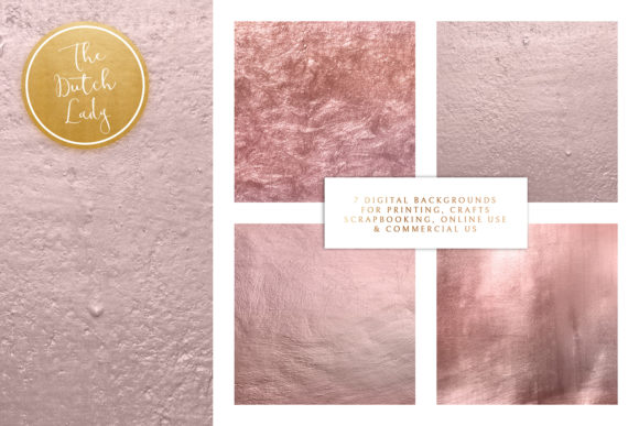 Print on Demand: Lilac Gold Texture Backgrounds Graphic Textures By daphnepopuliers - Image 2