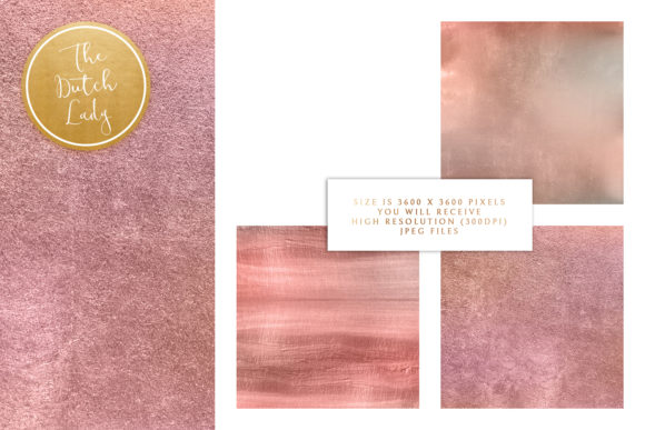 Print on Demand: Lilac Gold Texture Backgrounds Graphic Textures By daphnepopuliers - Image 3