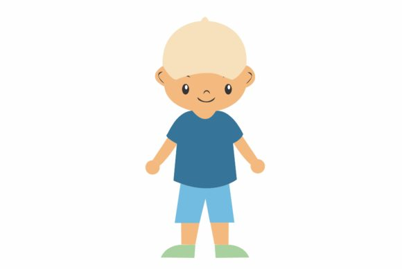 Little Boy with Clothes Beach Theme 1 Graphic Illustrations By harunikaart