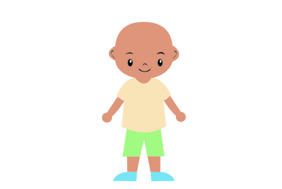 Little Boy with Clothes Beach Theme 2 Graphic Illustrations By harunikaart