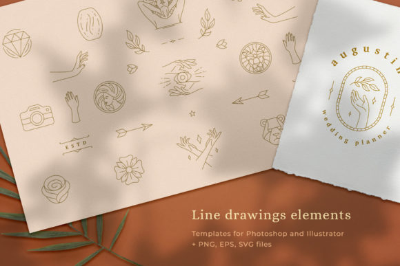 Logo Line Elements Collection Graphic Logos By vasyako1984 - Image 1