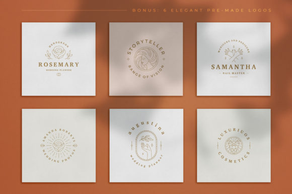 Logo Line Elements Collection Graphic Logos By vasyako1984 - Image 10