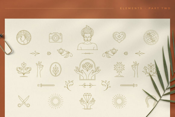 Logo Line Elements Collection Graphic Logos By vasyako1984 - Image 3