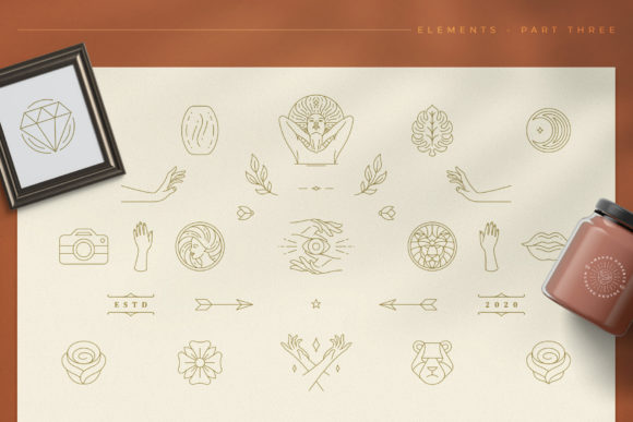 Logo Line Elements Collection Graphic Logos By vasyako1984 - Image 4