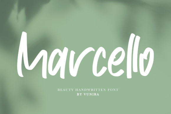Print on Demand: Marcello Script & Handwritten Font By Vunira