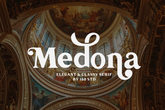 Print on Demand: Medona Serif Font By 160 Studio
