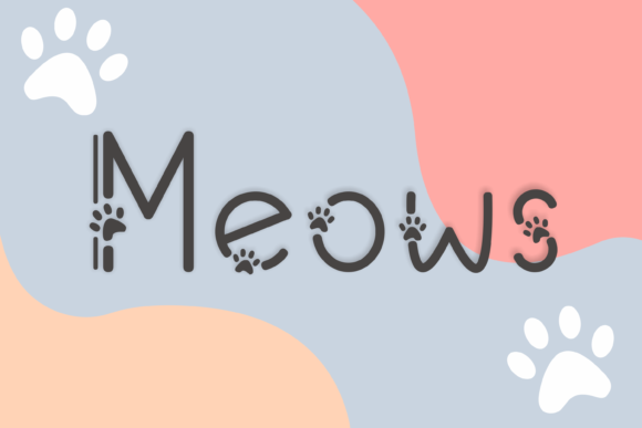 Print on Demand: Meows Decorative Font By nuraisyahamalia1729