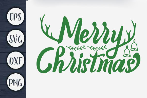 Print on Demand: Merry Christmas Graphic Print Templates By CreativeArt