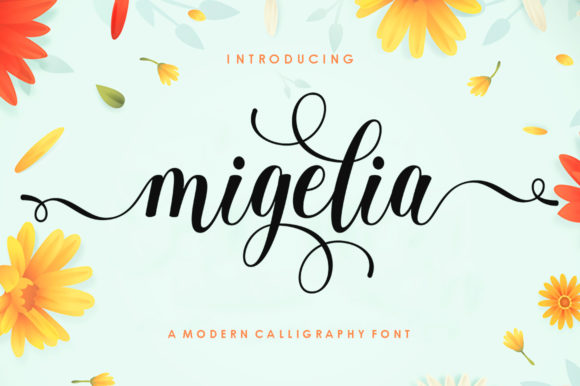 Print on Demand: Migelia Script & Handwritten Font By Romie Creative