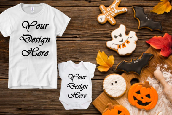Mockup Halloween Background, Kids, Baby Gráfico Mockups de productos Por MockupsByGaby