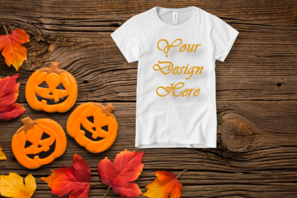 Mockup Halloween Kids T-shirt Graphic Product Mockups By MockupsByGaby