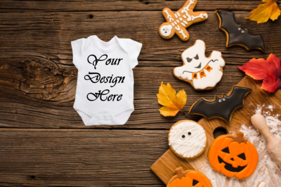 Mockup Kids, T-shirt, Halloween Mock Up Graphic Product Mockups By MockupsByGaby - Image 1
