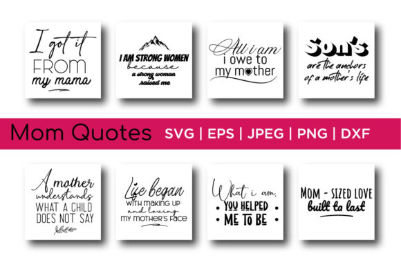 Mom Quotes Bundle Graphic Crafts By Saudagar