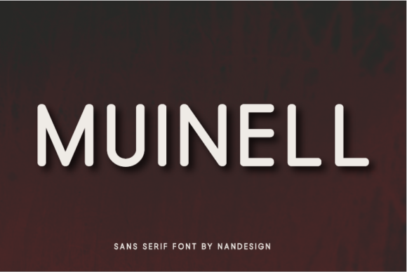 Print on Demand: Muinell Sans Serif Font By Nan Design