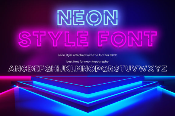 Print on Demand: Neon Style Display Fuente Por OWPictures
