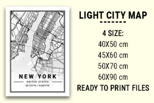 Print on Demand: New York Light City Map Graphic Photos By tienstencil
