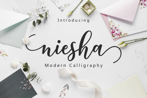 Print on Demand: Niesha Script & Handwritten Font By Amarlettering