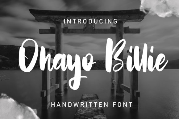 Print on Demand: Ohayo Billie Script & Handwritten Font By Vunira