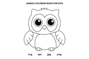 Print on Demand: OwlColoring Book Page for Kids Graphic Coloring Pages & Books Kids By doridodesign