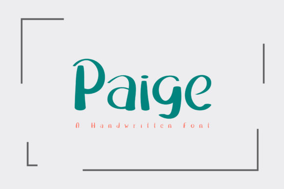 Print on Demand: Paige Script & Handwritten Font By Wanida Toffy