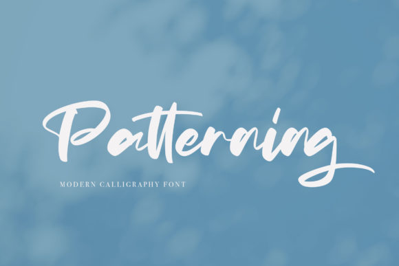 Print on Demand: Patterning Script & Handwritten Font By Vunira