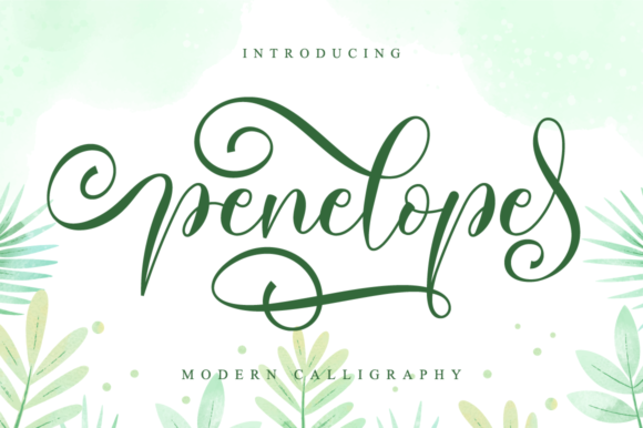 Print on Demand: Penelope Script & Handwritten Font By NissaStudio