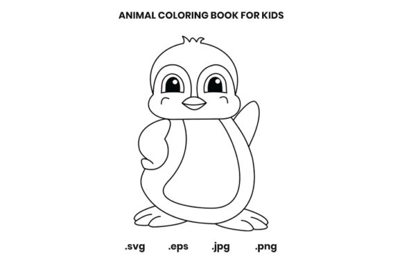 - Penguin Coloring Page For Kids (Graphic) By Doridodesign · Creative Fabrica