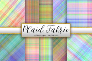 Print on Demand: Plaid Fabric Texture Background Graphic Backgrounds By PinkPearly
