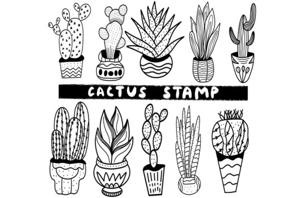 Print on Demand: Procreate - Cactus Stamp Brushset Graphic Brushes By Design 2 Last