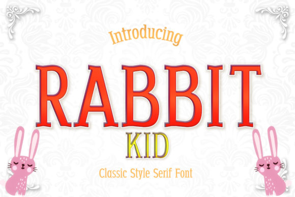 Print on Demand: Rabbit Kid Serif Font By numnim