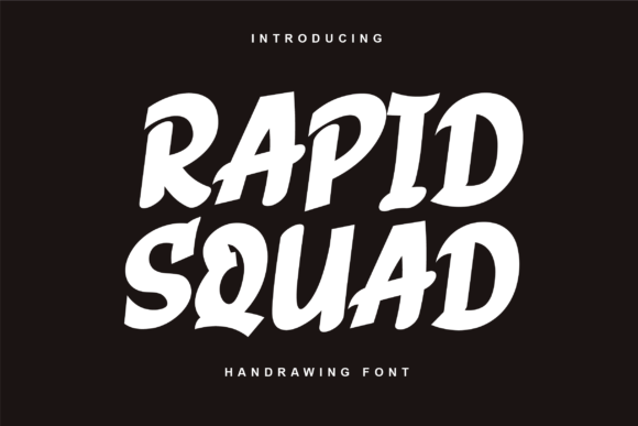 Print on Demand: Rapid Squad Display Font By twinletter