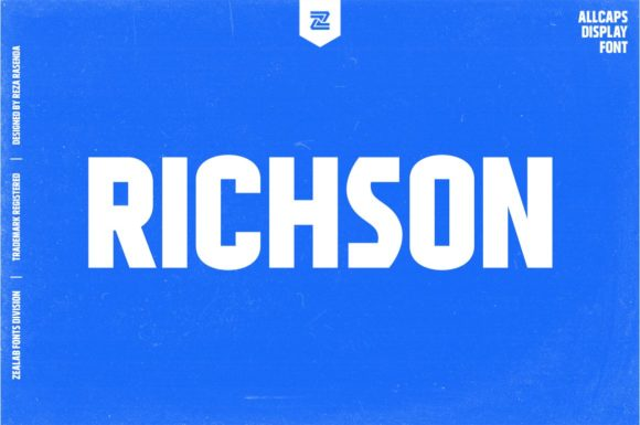 Print on Demand: Richson Display Font By zealab fonts division