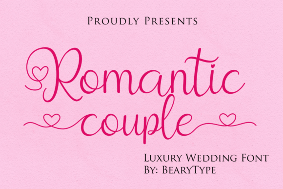 Print on Demand: Romantic Couple Script & Handwritten Font By LetterBeary
