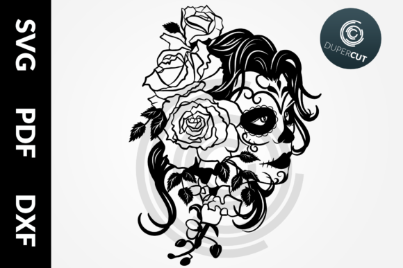 Female Sugar Skull Graphic Illustrations By DuperCut