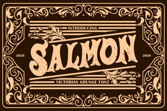 Print on Demand: Salmon Display Font By Vunira