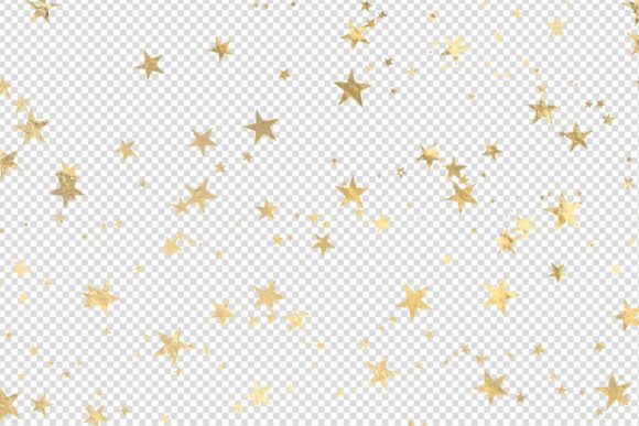 Print on Demand: Seamless Gold Star Overlays Graphic Illustrations By Digital Curio - Image 3