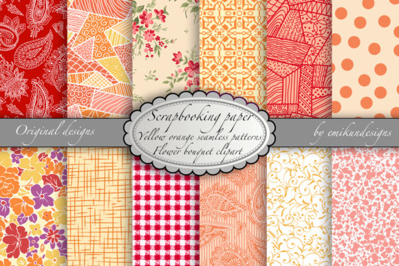Seamless Scrapbooking Papers Graphic Patterns By emikundesigns