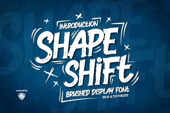 Print on Demand: Shapeshift Display Font By Ariya Works Studio