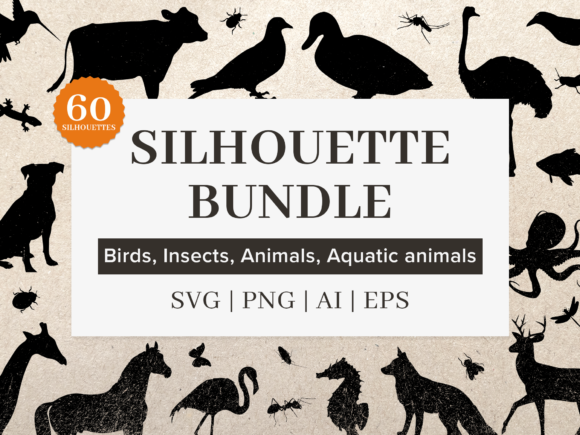 Print on Demand: Silhouette Bundle AI, EPS, PNG, SVG Graphic Illustrations By Simply Swapnil