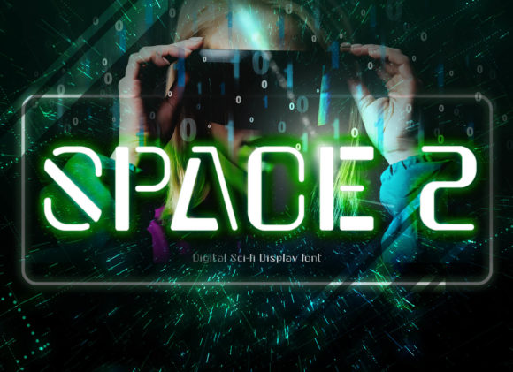 Print on Demand: Space 2 Display Font By BB Digital Arts
