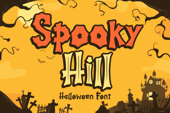 Print on Demand: Spooky Hill Display Font By attypestudio