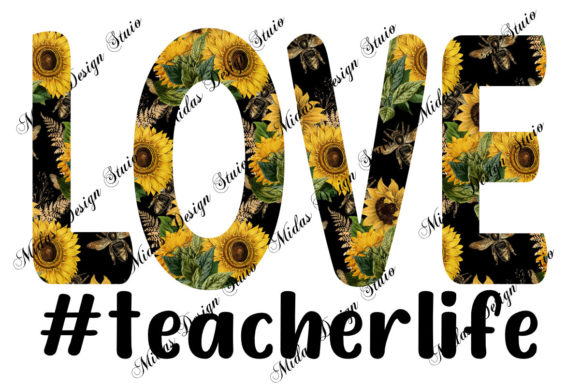 Sublimation - Love Teacher Life Graphic Illustrations By MidasStudio
