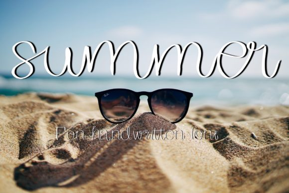 Print on Demand: Summer Display Font By ChunnapaStudio