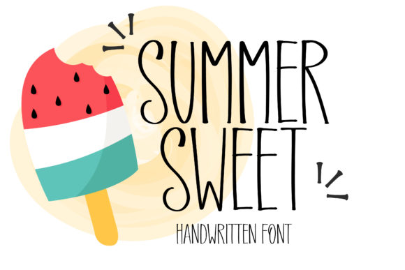Print on Demand: Summer Sweet Manuscrita Fuente Por BitongType