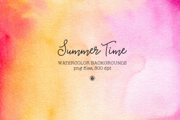 Summer Time - Watercolor Backgrounds Graphic Backgrounds By webvilla